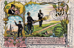 1903 D. Reich MILITARIA, noch 100 Tage. SELTENE Ansichtskarte Sprottau/D�sseldorf. MK