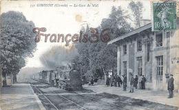 (33) Gironde Sur Dropt, Près De La Réole - La Gare Du Midi Train Tren Locomotive -  2 SCANS - France