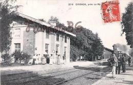 (33) Gironde Sur Dropt, Près De La Réole - La Gare Du Midi Train Tren Locomotive -  2 SCANS - Autres Communes