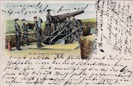 1901 D. Reich MILITARIA, SELTENERE Ansichtskarte Strassburg/Nauenburg. MK