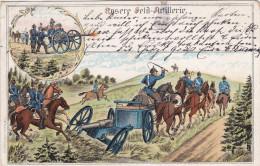1904 D. Reich MILITARIA, SELTENERE Ansichtskarte, gelaufen. MK