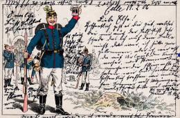 1906 D. Reich MILITARIA, SELTENERE Ansichtskarte, gelaufen. MK