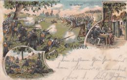 1903 D. Reich MILITARIA, MAN�VER, SELTENERE Ansichtskarte Wolfingen/G�sten. MK