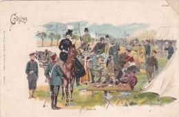 1900 D. Reich MILITARIA, MAN�VER, SELTENERE Ansichtskarte, gelaufen. MK