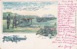 1900 D. Reich MILITARIA, SELTENERE Ansichtskarte: Gruss aus der Garnison. MK