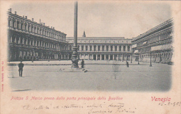 Italy 1908 Postcard  Venezia Piazza San Marco   Used - Marcophilia