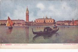 Italy Unused Postcard Venezia Panorama E Gondola - 1900-44 Victor Emmanuel III