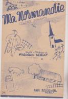 (FEVR)ma Normandie , Paroles Et Musique : FREDERIC BERIAT - Partitions Musicales Anciennes
