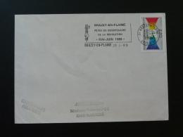 21 Cote D'Or Brazey En Plaine Bicentenaire Révolution Française - Flamme Sur Lettre Postmark On Cover - Marcophilie (Lettres)