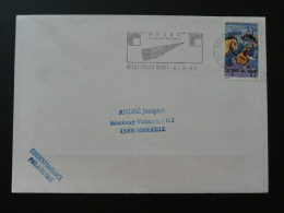 29 Finistere Brest Pilier Rouge Grands Chantiers 1993 - Flamme Sur Lettre Postmark On Cover - Marcophilie (Lettres)