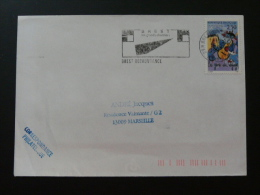 29 Finistere Brest Recouvrance Grands Chantiers 1993 - Flamme Sur Lettre Postmark On Cover - Marcophilie (Lettres)
