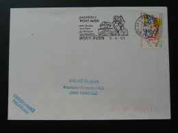 29 Finistere Pont Aven Costume Embroidery Lace 1993 - Flamme Sur Lettre Postmark On Cover - Kostüme