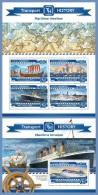 mld15205ab Maldives 2015 Maritime Timeline 2 s/s Ship Titanic Columbus