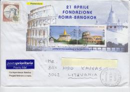 ITALIA 2004 -  Lettera Per La Lituania -  Sassone  BF 38 -  Roma -Bangkok - 6. 1946-.. Repubblica