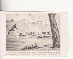 Affiche (dessin) -  Le Lieutenant De Vaisseau SERGET, Blessé, Rejoint Les Lignes Françaises Avec Ses Hommes........... - Affiches
