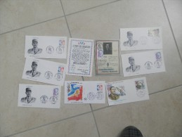 rare lot enveloppe 1er jour DE GAULLE frais envoi france 3 euros