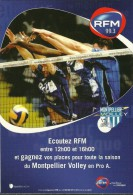 SPORT VOLLEYBALL  MONTPELLIER VOLLEY  ECOUTEZ RFM 99.3  EDIT. CART'COM - Volleyball