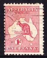 Australia 1913 Kangaroo 1d Red Die 1 1st WATERMARK SIDEWAYS Used - Used Stamps