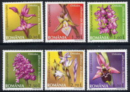 ROMANIA 2007 Wild Orchids Set Of 6 MNH / **.  Michel 6174-79 - 1948-.... Republics