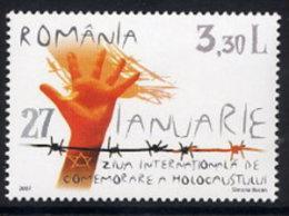 ROMANIA 2007 Holocaust Day MNH / **.  Michel 6162 - 1948-.... Republics