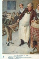 Character Sketches From Charles Dickens, Oliver Twist Ask For More, 00-10s TUCK - Künstlerkarten