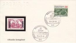 FDC 619  SABRIA 70 -  5o Jahre Saarbriefmarken, Saarbrücken - [7] Federal Republic