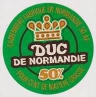 étiquette De Fromage:   Camembert  :  Duc  De  Normandie      (  Code  AA) - Fromage
