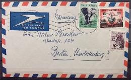 29.1.1955 Luftpostbrief Von Südafrika Nach Berlin-West - Stamps
