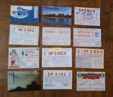 LOT 12 CARTES QSL - Cartoline