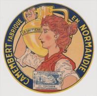 étiquette De Fromage:   Camembert  : La  Laitière   Normandie      (  Code  AA) - Formaggio