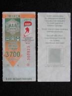 transport ticket from Belarus trolley bus tram Minsk city Ice hocket world championship