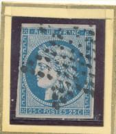 N°4 BLEU FONCE ETOILE PLEINE. - 1849-1850 Cérès