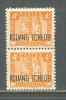 1941 KOUANG-TCHEOU 4C. DEFINITIVE MICHEL: 140 PAIR MNH ** - Kouang-Tcheou (1906-1945)