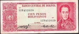 BOLIVIA   P164      100   PESOS BOLIVIANOS  1983   VF - Bolivia