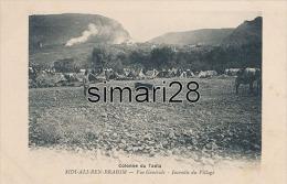 SIDI-ALI-BEN-BRAHIM -  VUE GENERALE INCENDIE DU VILLAGE - Maroc