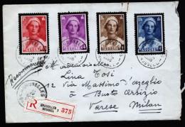 A3043) Belgien Belgium R-Brief Von Bruxelles 11.4.1936 Nach Italien - Belgien