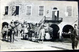 LIBAN BEYROUTH CHAMEAUX DE TRANSPORT  CARAVANSERAIL - Liban