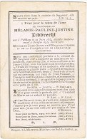 PITTEM - BRUGGE - Doodsprentje Van Mélanie-Pauline LIBBRECHT + 1910 - Devotion Images