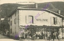 26. LA BAUME D'HOSTUN . Hotel Astier ( Hotel PAYRE ) .  CPA Animée . - Otros Municipios
