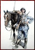 Document Sur WW1 - CPM De La Collection Atlas - Cavalier Du 5° Régiment 1915-16 - Oorlog 1914-18