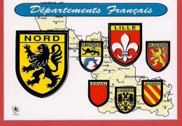 59 - Carte Contour Géographique Du Département Du NORD - Maps