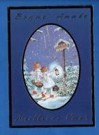 2078 - Carte Bonne Année - Angelots, Panier,  Lanterne..boite Aux Lettre , Neige.... --  Recto-verso - Anno Nuovo