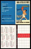 Banca Cattolica Del Veneto. 31 Ottobre 1960 Giornata Nazionale Del Risparmio. Calendarietto. Calendario. - Calendari