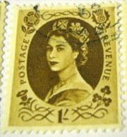 Great Britain 1952 Queen Elizabeth II 1s - Used - 1952-.... (Elizabeth II)