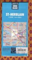 1 Carte Ign - Serie Bleue St Herblain - Karten/Atlanten