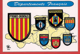 66 - Carte Contour Géographique Du Département Des PYRENEES ORIENTALES - Carte Geografiche