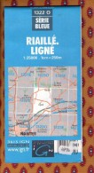 1 Carte Ign - Serie Bleue Riaille Ligne - Karten/Atlanten
