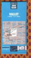 1 Carte Ign - Serie Bleue Vallet - Karten/Atlanten