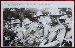 Document Sur WW1 - CPM Fac-similé De Carte CPA - Soldats US Rendent Les Honneurs à Lafayette Cimetière De Picpus - Weltkrieg 1914-18