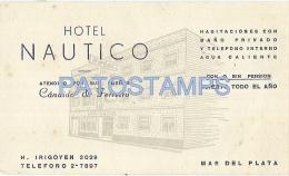 3175 ARGENTINA MAR DEL PLATA HOTEL NAUTICO PUBLICITY CARD NO POSTAL POSTCARD - Argentinien
